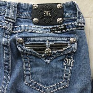 Miss Me Boot JE5189B4L Sz 25 Distressed Jeans